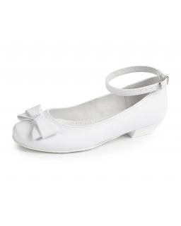 Komunijne buty z kokardkami 31-38 BK42 białe