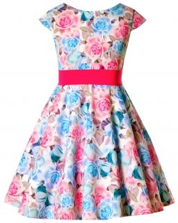 Sukienka dla dziewczynki, na wesele, w kwiaty, komunia, dress for girl, communion,wedding, sklep
