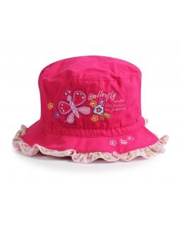 Letni kapelusz dla dziewczynki 50-52 różowy