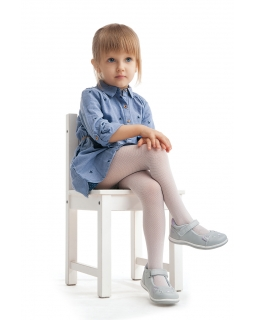 Rajstopy dla dziewczynki, białe, wzorzyste, tights for girl, white