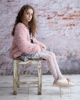 Rajstopy dla dziewczynki, białe, wzorzyste, tights for girl, sklep