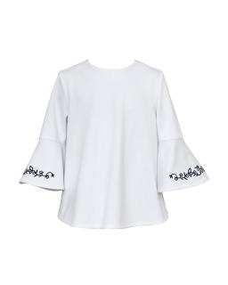 Bluzka dla dziewczynki, biała, blouse for girl, white, sklep, webshop