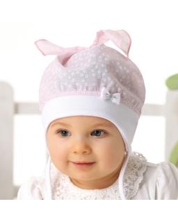 Wiązana czapka dla dziewczynki, hat for girl, sklep internetowy