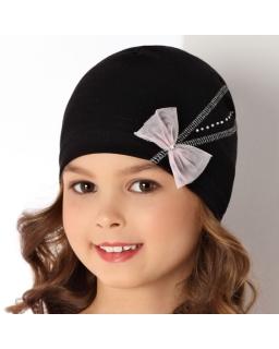 Dziewczęca czapka z tiulową kokardką, hat for girl, sklep internetowy