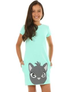 Sukienka dla dziewczynki, z kotem, Dress for girl, sporty, sklep