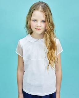 Dziewczęca bluzka do szkoły 122-152 Ola biała