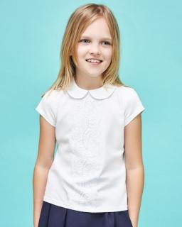 Biała bluzka dla dziewczynki, do szkoły, white blouse for girl, sklep