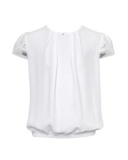 Bluzka dla dziewczynki, szkoła, biała, blouse for girl, sklep online