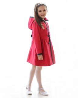Płaszcz z kapturem dla dziewczynki, coat for girl, online shop