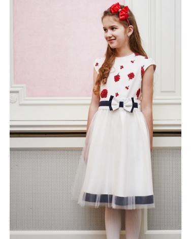 39808fa15f Sukienki dla dziewczynek na wesele tiulowe białe ekri ecru dresses