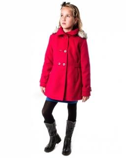 Uniwersalny płaszczyk dziewczęcy 128-164 Angela czerwień