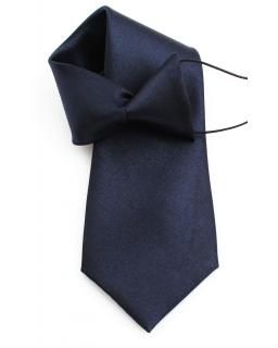 Dziecięcy krawat na gumce 31 cm granat