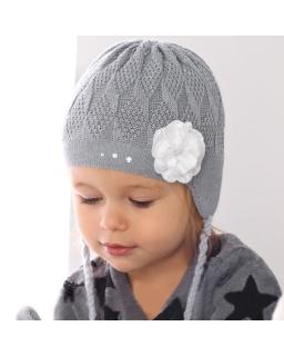 Czapka dla dziewczynki, szara, przejściowa, cap for girl, sklep online