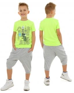 Spodnie dresowe 3/4 baggy 116-158 KRP159 szare