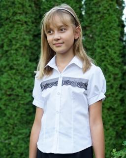 Biała bluzka dla dziewczynki, White blouse for a girl, sklep online