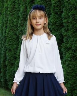 d721b59303 Biała bluzka dla dziewczynki