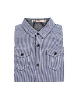 Koszula dla chłopca, w prążki, długi rękaw, niebieska, webshop, online