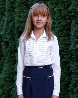 Biała klasyczna koszula do szkoły dla dziewczynki