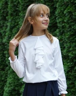 Szkolna bluzka z eleganckim żabotem