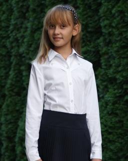 Klasyczna biała koszula do szkoły dla dziewczynki