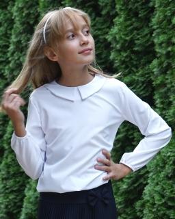 Bluzka do szkoły w formie bombki z długim rękawem dla dziewczynki