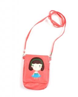 Dziewczęca torebka z długim paskiem i wesołym nadrukiem