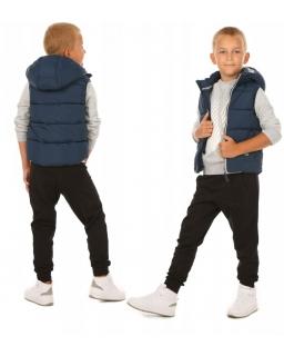 Dresowe spodnie dla chłopca z kangurkowymi kieszeniami