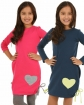 Tunika dla dziewczynki bawełniana granatowa lub różowa