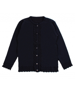 Granatowy sweter dla dziewczynki