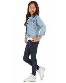Legginsy dla dziewczynki jak spodnie dżinsowe granatowe