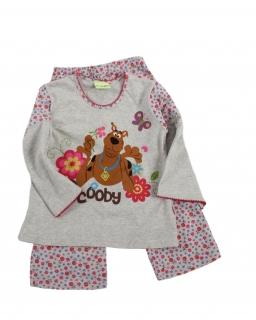 Piżama dziewczęca wykonana z bawełny z wesołym nadrukiem na przodzie