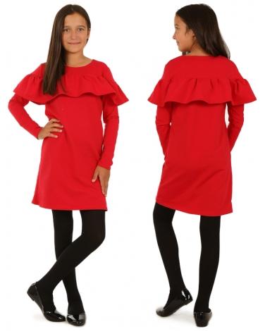 Sukienka hiszpanka z długim rękawem dla dziewczynki na sezon jesienny
