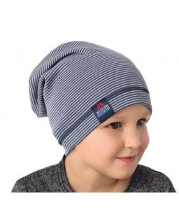 Dwustronna czapka dla chłopca na sezon jesienny