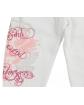 Bawełniane spodnie dresowa z aplikacją na nogawce dla dziewczynki zbliżenie na nogawkę