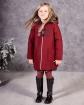 Ciepły płaszcz z modnym zapięciem 116-152 Doris bordowy