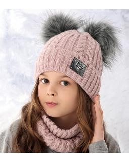 Komplet na zimę z czapką i kominem