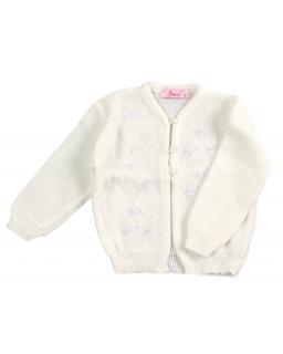 Sweterek zapinany na guziki dla dziewczynki