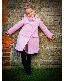 Modny płaszczyk dla dziewczynki w różowym kolorze