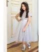 Rozkloszowana sukienka dla dziewczynki z koronką i tiulem