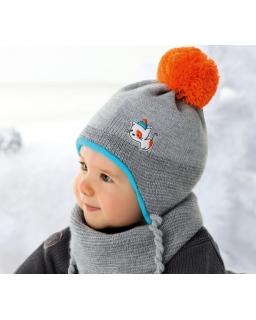 Chłopięcy komplet czapka i ciepła chustka na zimę