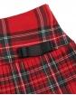 Spódniczka dla dziewczynki w szkocką kratkę z ozdobną kokardką zbliżenie
