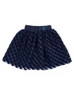 Dziewczęca tiulowa spódnica w grochy podszyta śliską podszewką