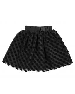Tiulowa spódniczka dla dziewczynki podszyta czarną podszewką