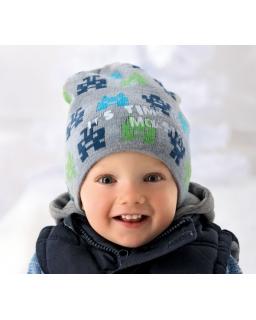 Chłopięca czapka zimowa z ciekawym motywem