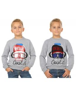 Bluza dla chłopca bawełniana z długim rękawem i dwustronnymi cekinami
