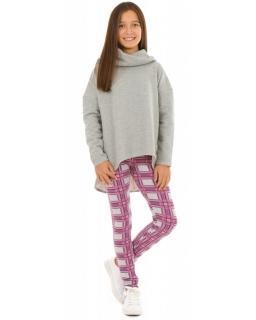 Dziewczęce legginsy w modną kratę