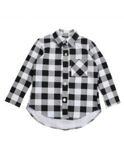 Modna koszula w biało-czarną kratkę