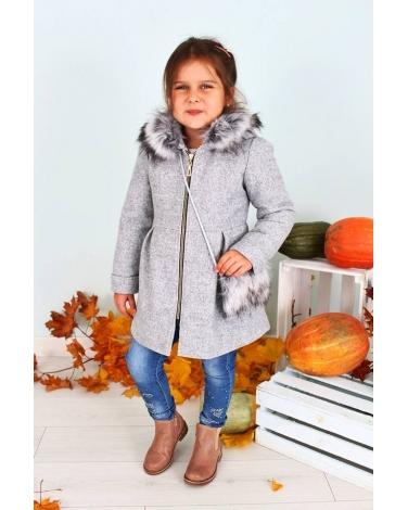 płaszcz zimowy dziewczynka zara