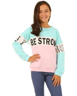Modna bluza z napisem dla dziewczynki