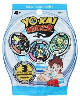 Medale w torebce niespodziance Yo-Kai Watch 3 szt